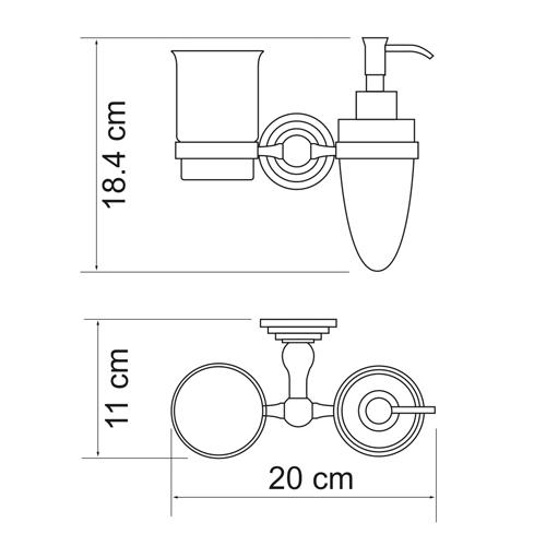 Держатель дозатора и стакана WasserKRAFT Ammer K-7089