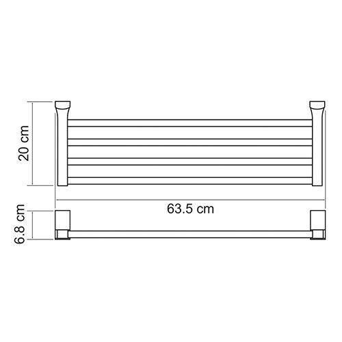 Полка для полотенец WasserKRAFT Leine K-5011