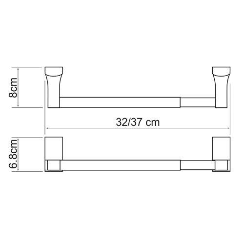 Держатель бумажных полотенец WasserKRAFT Leine K-5022D