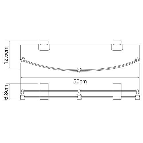 Полка стеклянная WasserKRAFT Leine K-5024