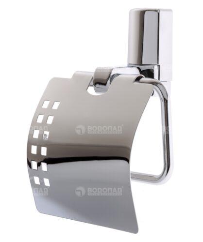 Держатель туалетной бумаги с крышкой WasserKRAFT Leine K-5025