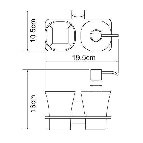 Держатель дозатора и стакана WasserKRAFT Leine K-5089