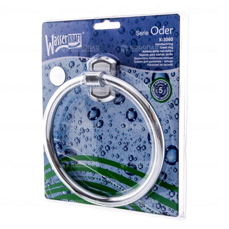 Держатель полотенец кольцо WasserKRAFT Oder K-3060
