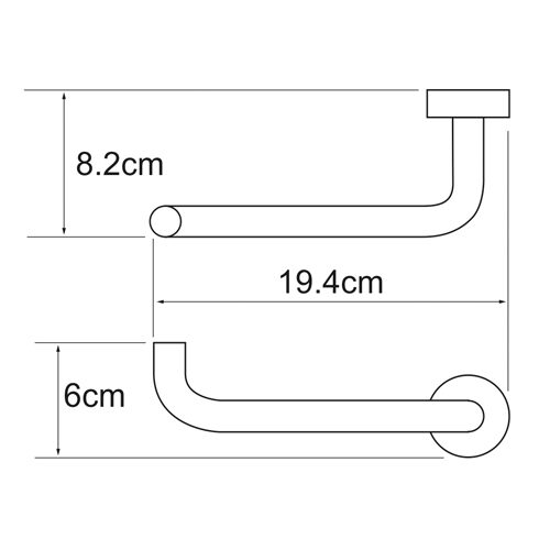 Держатель туалетной бумаги WasserKRAFT Donau K-9496