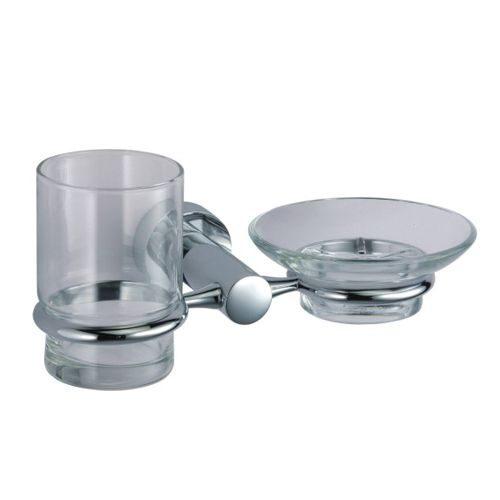 Держатель стакана и мыльницы WasserKRAFT Donau K-9426 (стекло)