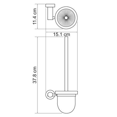 Щетка для унитаза WasserKRAFT Donau K-9427 (стекло)