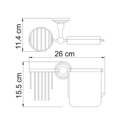 Держатель для туалетной бумаги и освежителя WasserKRAFT Ammer К-7059