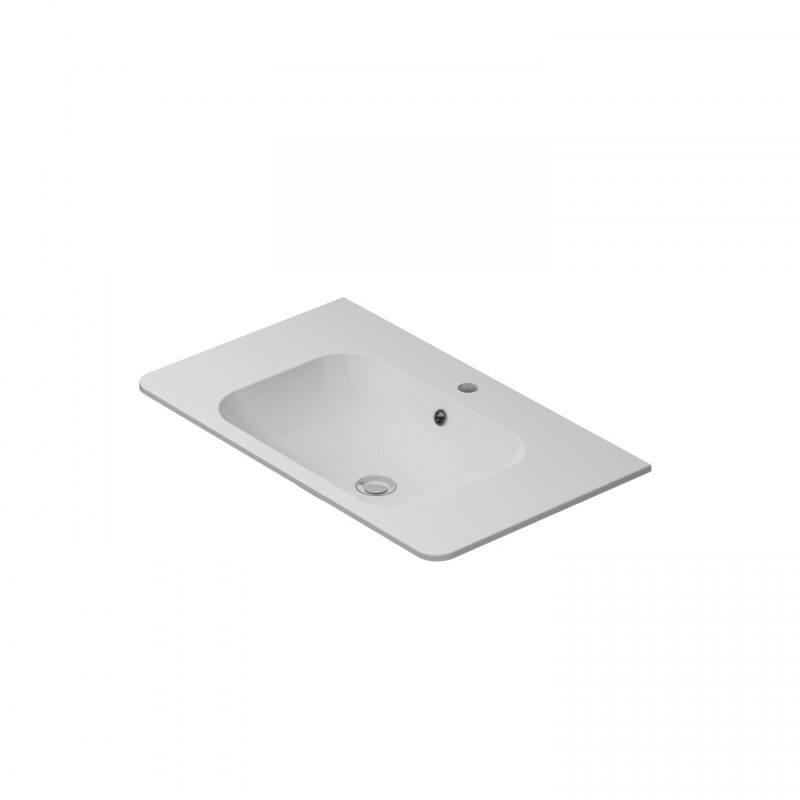 M55WPX0801WG BLISS, раковина, 80см,белый, глянец