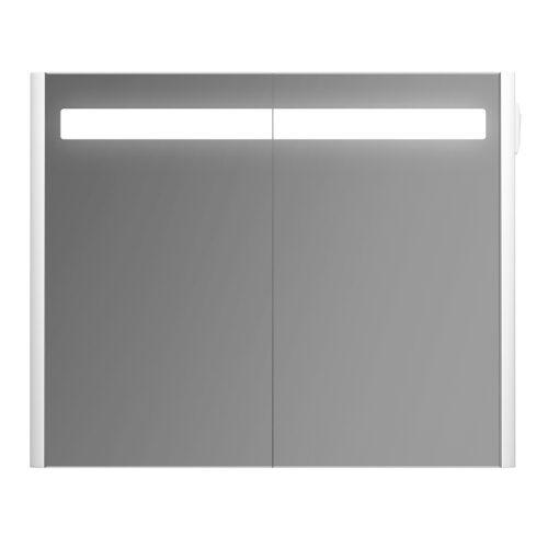 M55MCX0801WG BLISS, Зеркальный шкаф с подсветкой, универсальный, 80см, белый, глянец