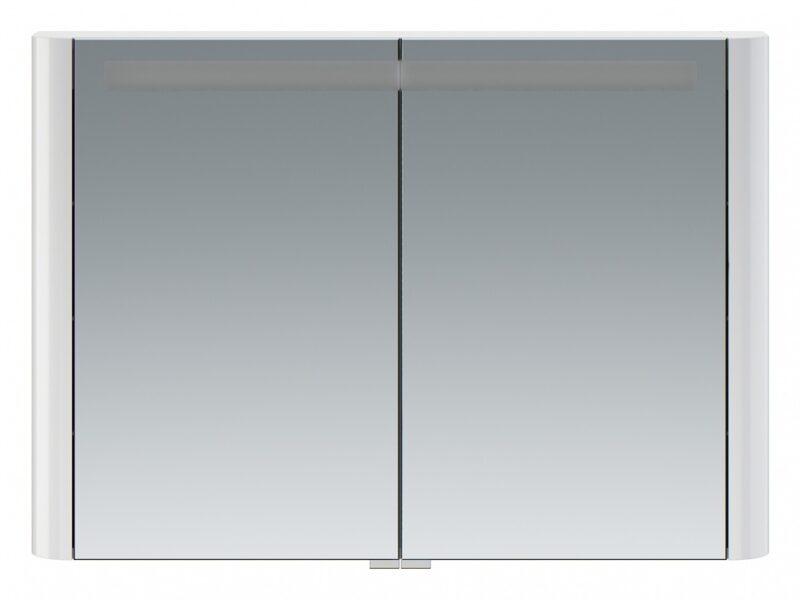 M30MCX1001WG Sensation, зеркало, зеркальный шкаф, 100 см, с подсветкой, белый, глянец