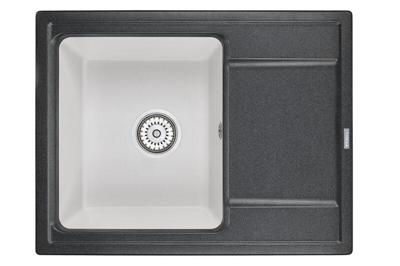 Кухонная мойка Hibrid 6504blwh
