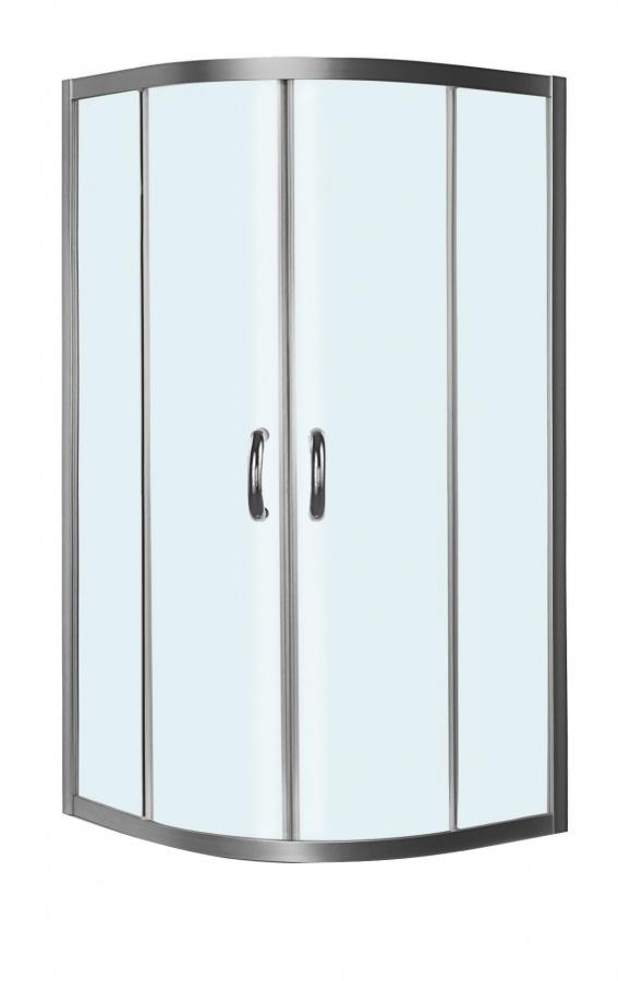 W53G-301-090MT BLISS L Twin Slide. Стекла для душ.уголок, 90x90, профиль матовый хром, стекло прозр