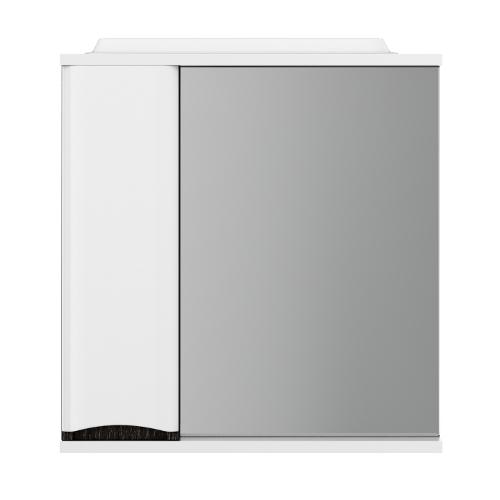 M80MPL0651VFLike, зеркало, частично-зеркальный шкаф, левый, 65 см, с подсветкой, венге, текстурирова