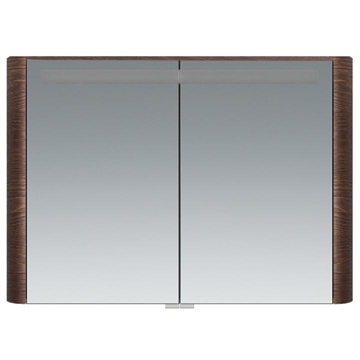 M30MCX1001TF Sensation, зеркало, зеркальный шкаф, 100 см, с подсветкой, табачный дуб, текстурированн