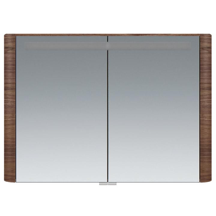 M30MCX1001NF Sensation, зеркало, зеркальный шкаф, 100 см, с подсветкой, орех, текстурированная