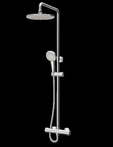 F0780464 Like,душ.система набор:см-ль д/душа термостат,верх.душ d250 мм,ручн.душ d110 мм,переключ.