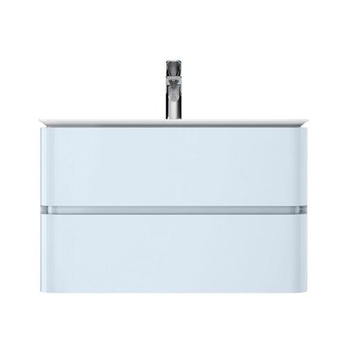 M30FHX0802BG Sensation, База под раковину, подвесная, 80 см, ящики, светло-голубой, глянцевая