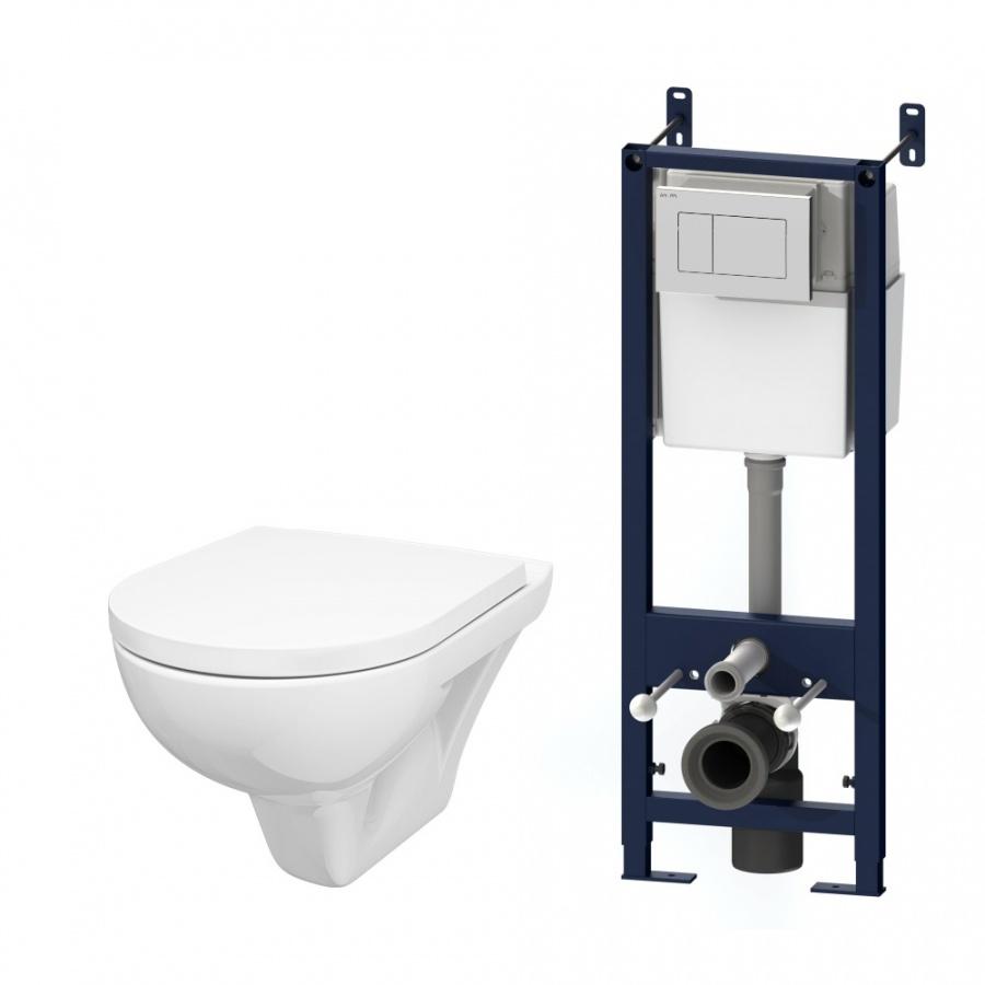 IS301.901738P Комплект инсталляция с клав белый с подвесным унитазом Gem с сид м/лифт