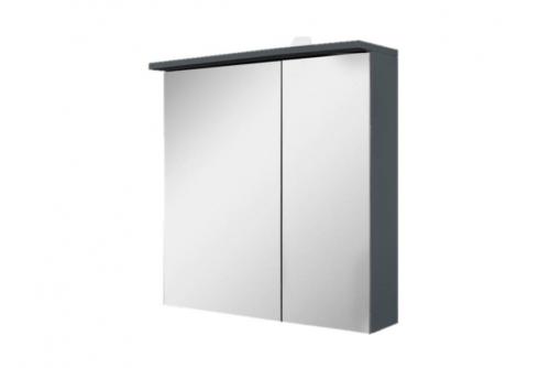 M70AMCL0601GM SPIRIT 2.0, Зеркальный шкаф с LED-подсветкой, левый, 60 см, цвет: графит, матовый