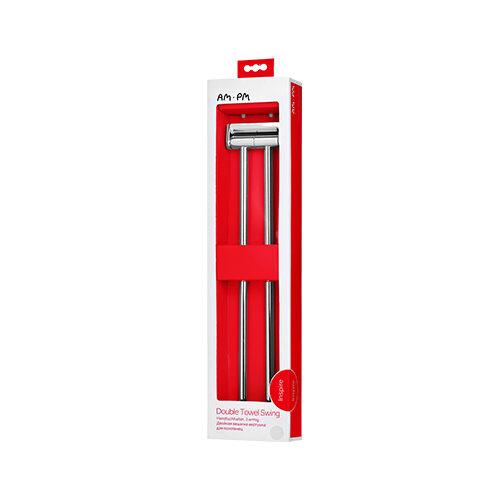 A5032664 Inspire, Двойная вешалка-вертушка для полотенец, 38 см, хром, шт