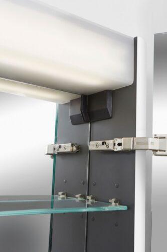 M30MCR0801WG Sensation, зеркало, зеркальный шкаф, правый,80 см, с подсветкой, белый, глянец, шт