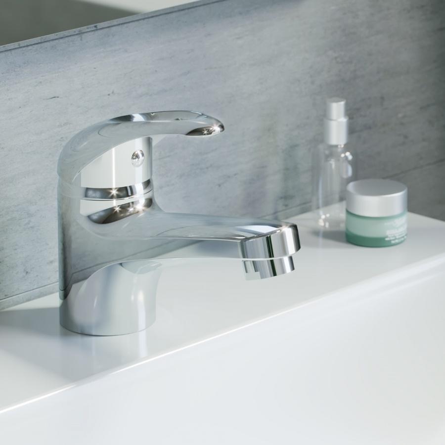 D8021000 Comfort смеситель для умывальника, материал полимер, цвет хром