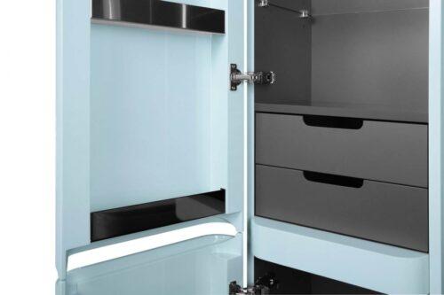 M30CHL0406BG Sensation, Шкаф-колонна, подвесной, левый, 40 см, двери, светло-голубой, глянцевая