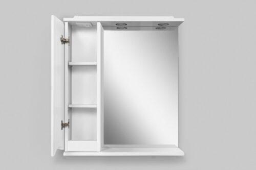 M80MPL0651WG Like зеркало, частично зеркальный шкаф, левый, 65см, с подсветкой, белый, глянец, шт