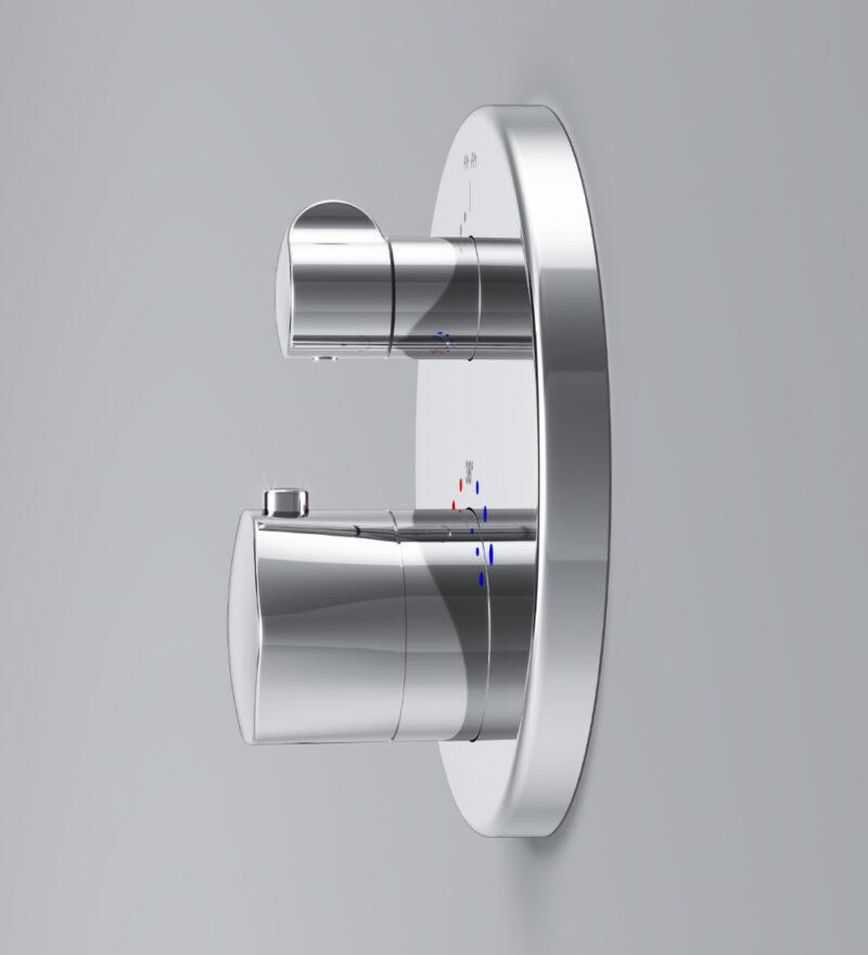 F9075600 Gem смеситель д/душа с термостатом, монтируемый в стену, хром, шт