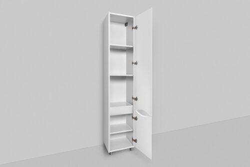 M80CSR0356WG Like, шкаф-колонна, напольный, правый, 35 см, двери, белый, глянец, ш