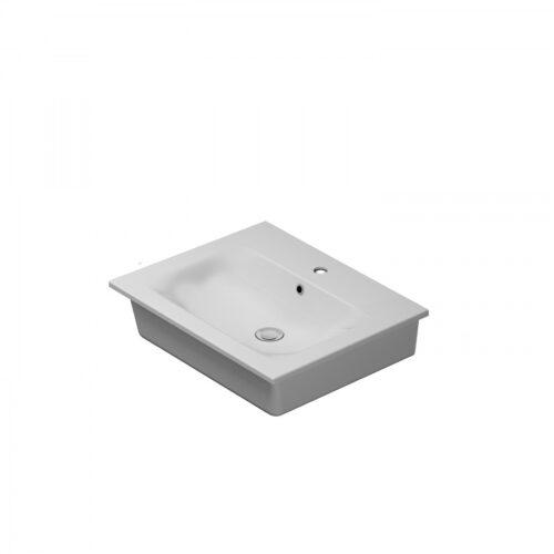 M70AWCC0602WG SPIRIT 2.0, Раковина мебельная, керамическая, 60 см, встроенная, цвет: белый, глянец
