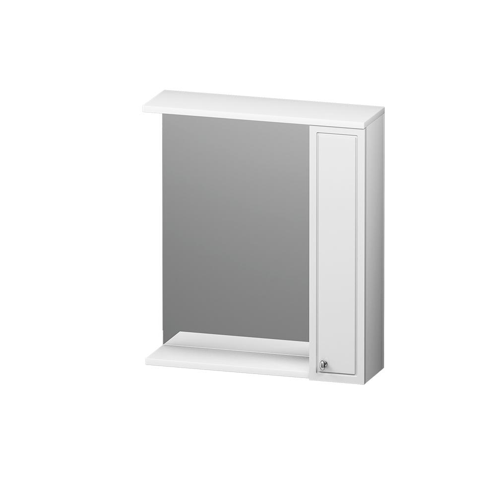 M41MPR0651WG Palace One, зеркало, частично зеркальный шкаф, правый, 65 см, с подсветкой, белый, глян