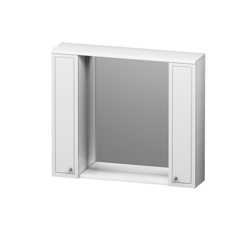 M41MPX0851WG Palace One, зеркало, частично зеркальный шкаф, 85 см, с подсветкой, белый, глянец