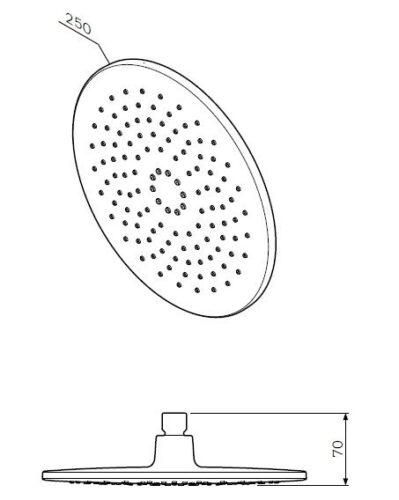 F0580000 Like верхний душ 250 мм, шт