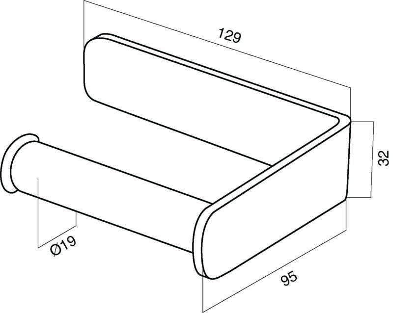 A5034164 Inspire, Держатель для туалетной бумаги, хром, шт