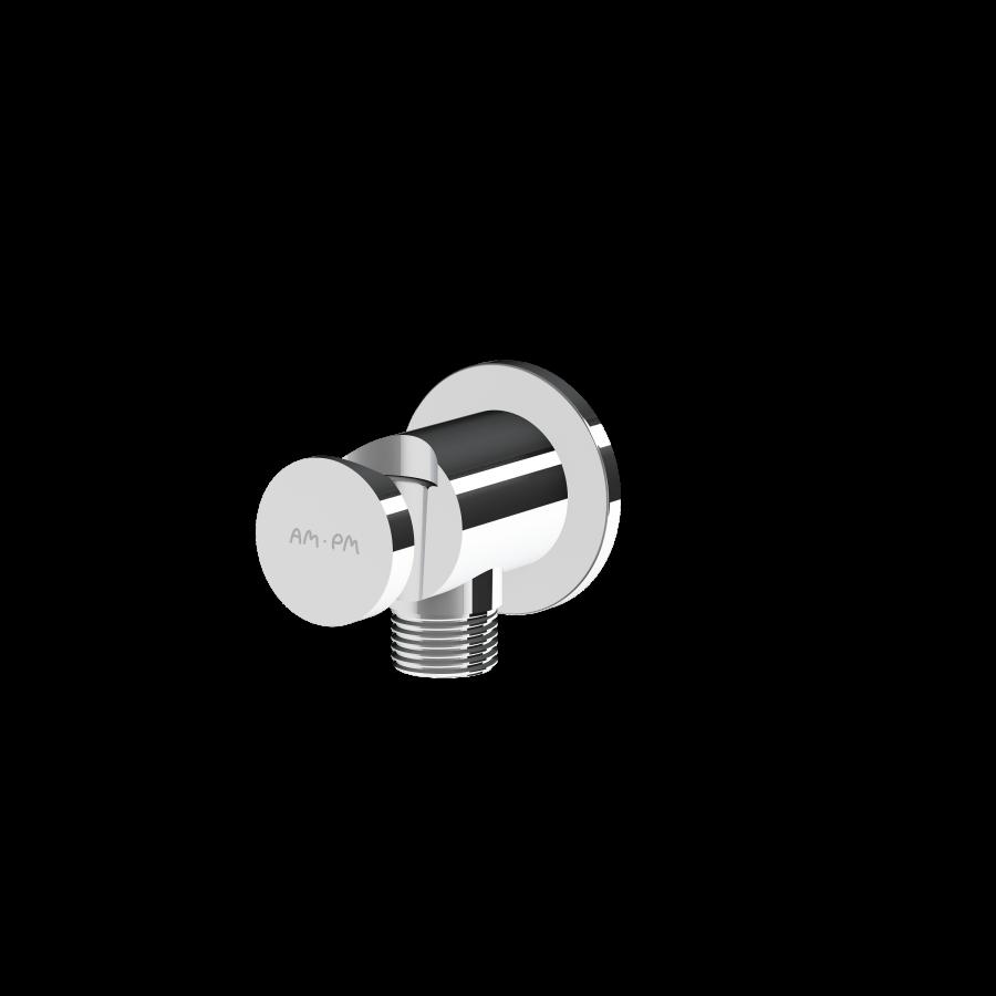 F0602100 Шланговое подсоединение с держателем, хром, шт.