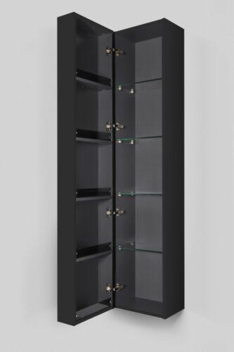 M70ACHL0356GM  SPIRIT 2.0, шкаф-колонна, подвесной, левый, 35 см, фасад с полочками, push-to-open, ц