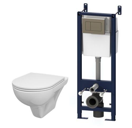 IS3901738 Комплект инсталляция с клав глянц хром с подвесным унитазом Gem с сид-ем м/лифт