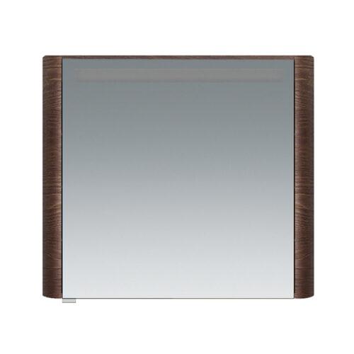 M30MCR0801TF Sensation, зеркало, зеркальный шкаф, правый, 80 см, с подсветкой, табачный дуб, текстур