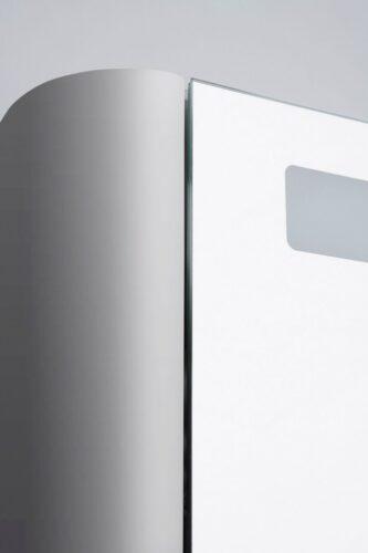 M30MCR0801FG Sensation, зеркало, зеркальный шкаф, правый, 80 см, с подсветкой, серый шелк, глянцевая
