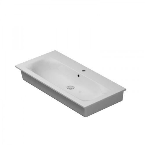 M70AWCC1002WG SPIRIT 2.0, Раковина мебельная, керамическая, 100 см, встроенная, цвет: белый, глянец