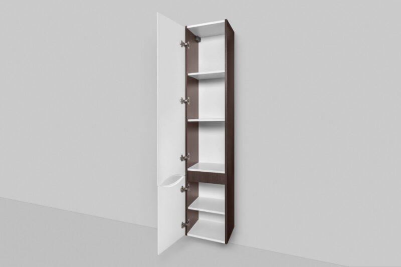 M80CHL0356VF Like, шкаф-колонна, подвесной, левый, 35 см, двери, венге, текстурированный