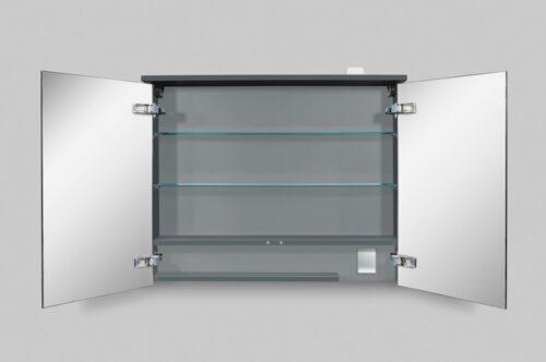 M70AMCX0801GM SPIRIT 2.0, Зеркальный шкаф с LED-подсветкой, 80 см, цвет: графит, матовый