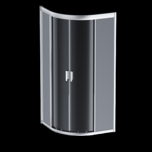 W90G-401-090WT Gem душевое ограждение 90х90, стекло прозрачное, профиль матовое серебро, без поддона