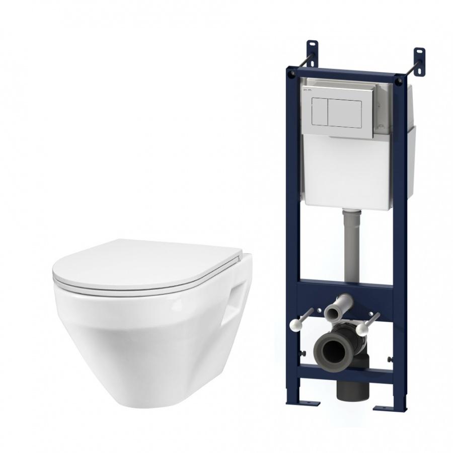 IS301.701738 Комплект инсталляция с клав белый с подвесным унитазом Spirit с сид м/лифт