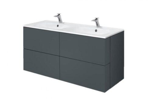 M70AFHD1202GM SPIRIT 2.0, База под раковину, подвесная, 120 см, ящики push-to-open, цвет: графит, ма