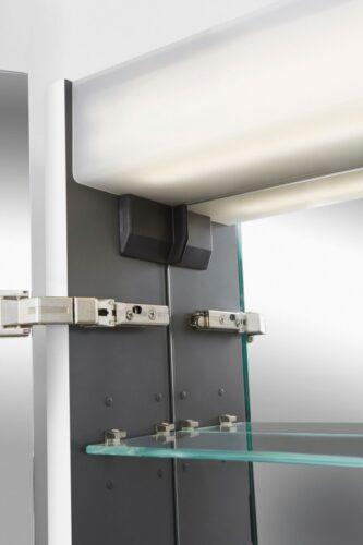 M30MCL0801WG Sensation, зеркало, зеркальный шкаф, левый, 80 см, с подсветкой, белый, глянец, шт