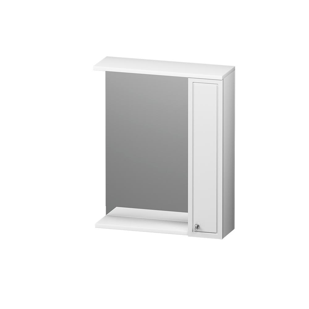 M41MPR0601WG Palace One, зеркало, частично зеркальный шкаф, правый, 60 см, с подсветкой, белый