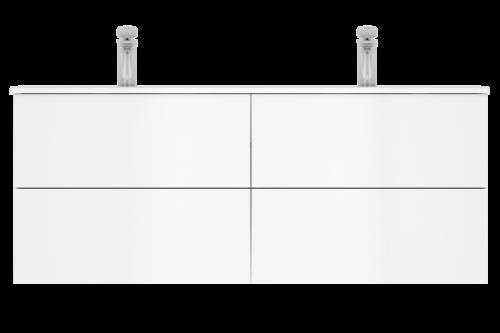 M70AFHD1202WG SPIRIT 2.0, База под раковину, подвесная, 120 см, ящики push-to-open, цвет: белый, гля