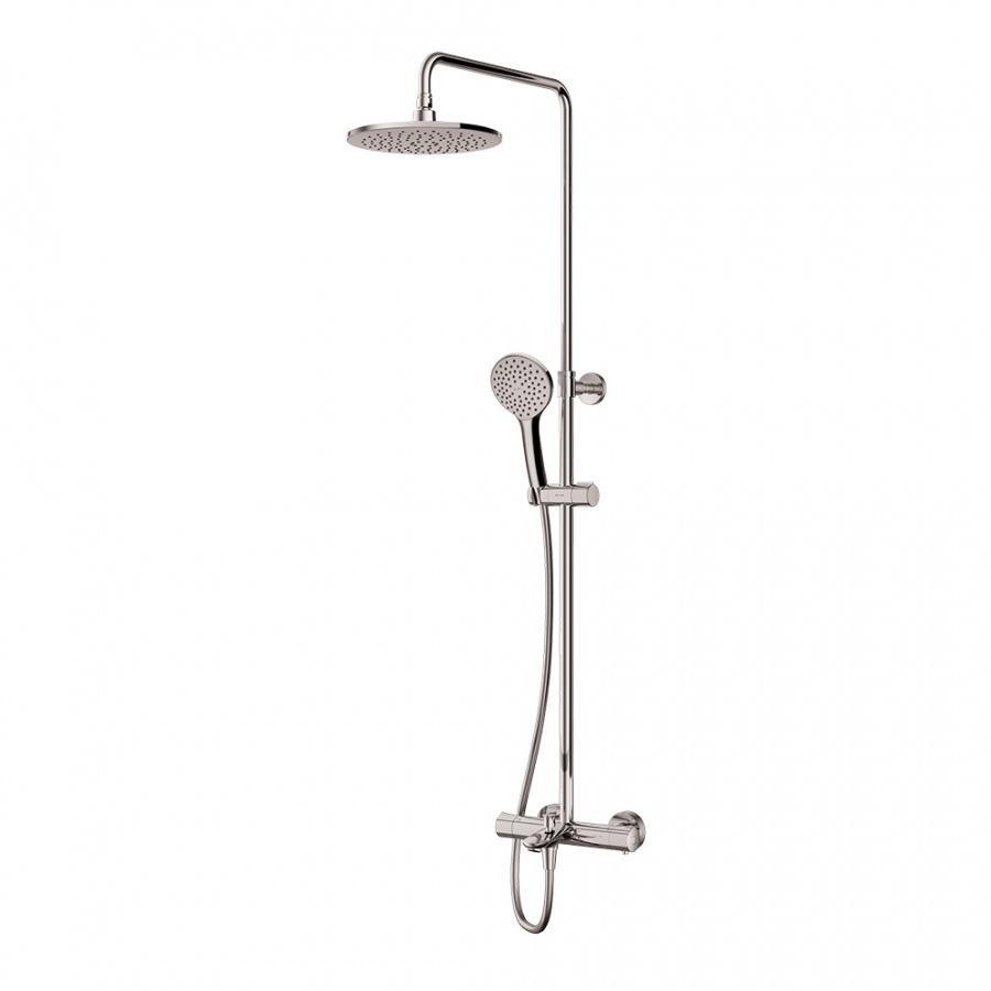 F0790510 Gem душ.система, набор: смеситель д/ванна/душа с термостатом, верхн. душ d 220 мм, ручн.душ